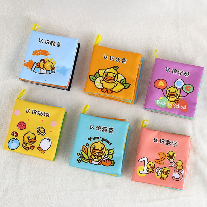 B.DUCK WL - BD044 Baby Early Education Growth Book 6PCS