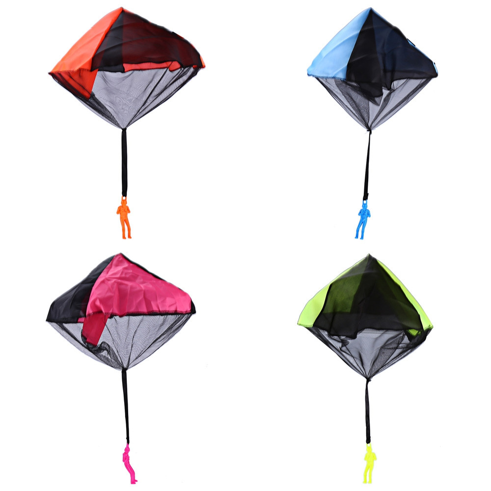 Tangle Free Hand Throwing Small Parachute Outdoor Play Game Toy for Children