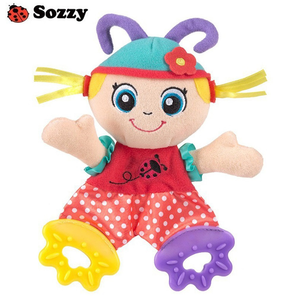 SOZZY Baby Teether Towel Appease Stuffed Toy for Infant