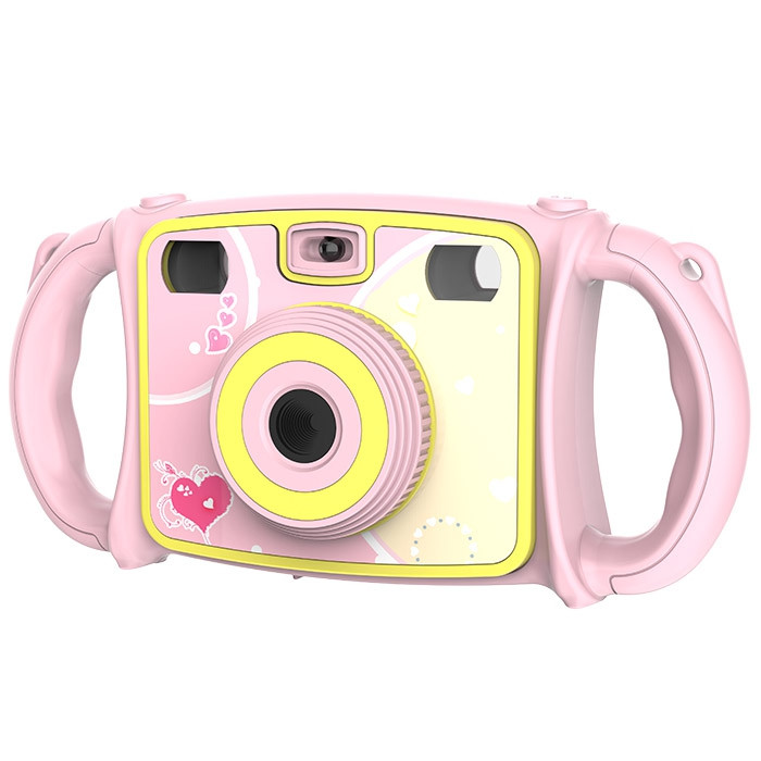 Cartoon Dual Lens Zoom Digital Camera Photo Toy for Kids