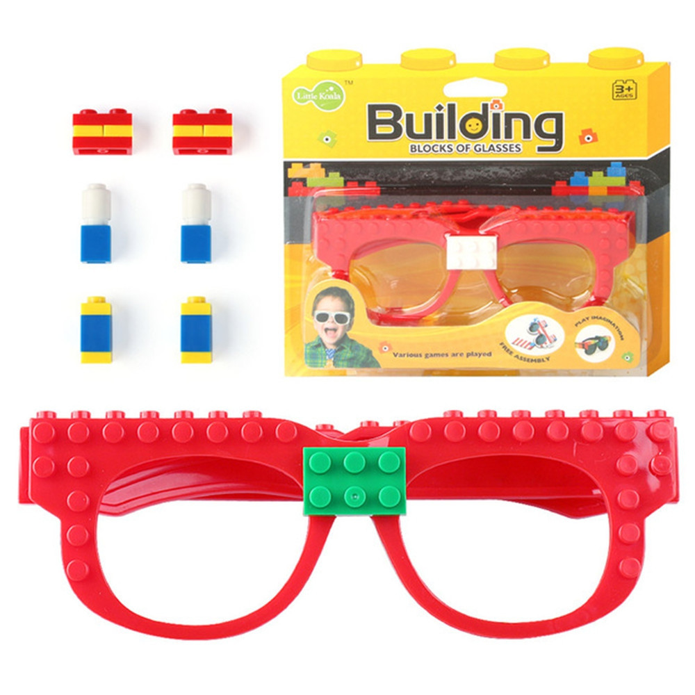 Creative DIY Building Blocks Glasses Toy