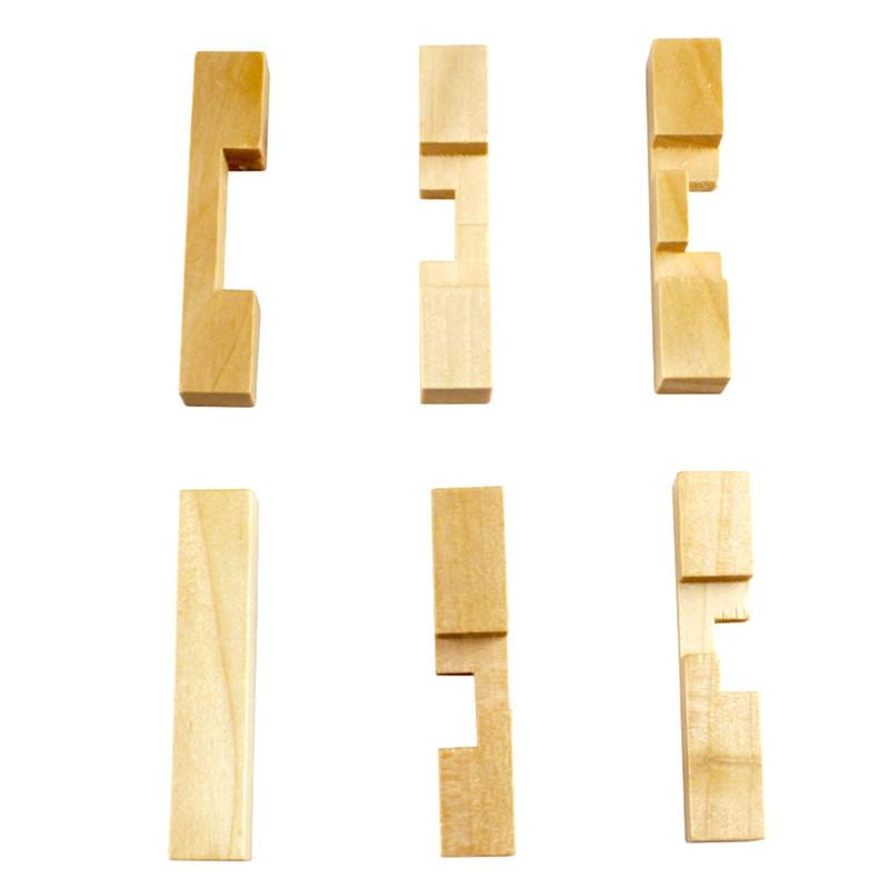 Intelligent Wooden Interlocking Jigsaw Educational Toy