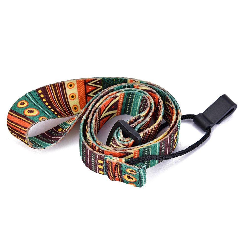 Nylon Colorful Vivid Printing Style Ukulele Strap Sling With Hook
