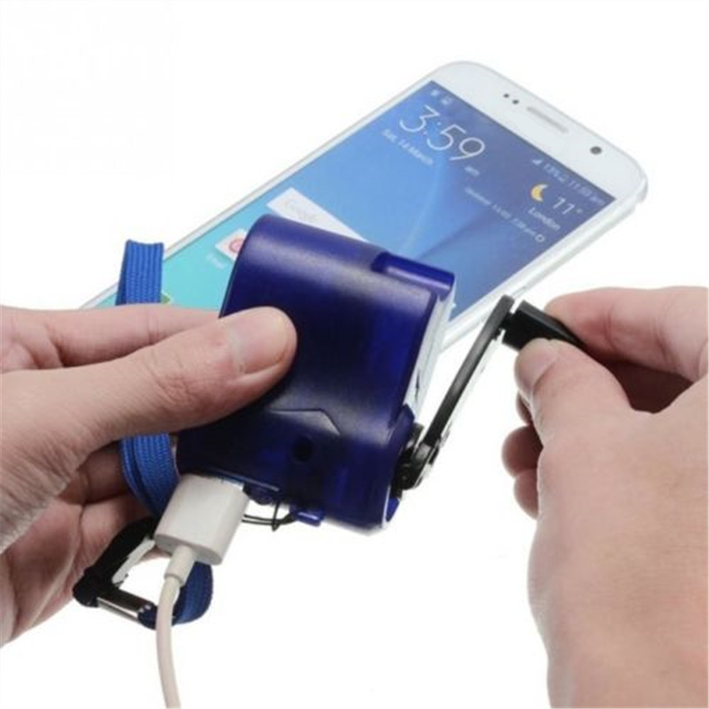 USB Hand Crank Emergency Power SOS Phone Charger Survival Camping Backpack Gear