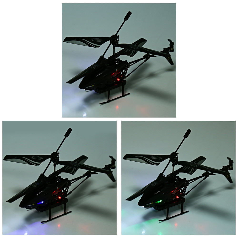 S977 Missile Launching 3.5CH Radio Remote Control Helicopter with Gyro Toy Gift for Kids