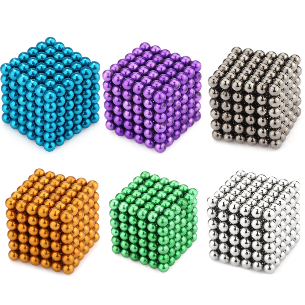 216pcs 5MM Magic Magnetic DIY Ball Intellectual Toy
