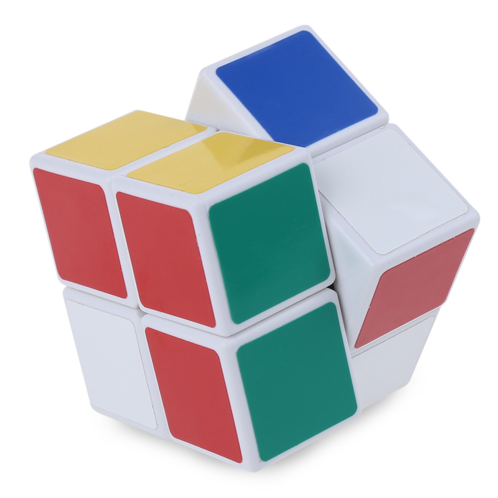 Shengshou Cube 2 x 2 x 2 Mini Cube White Base Fun Educational Toy