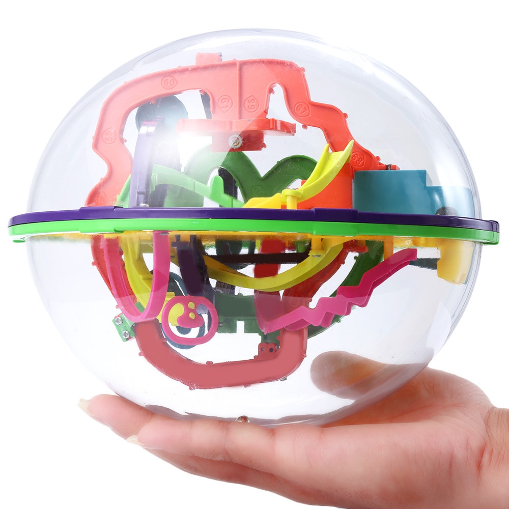 Creative Intellect 3D Labyrinth Ball Challenging Exploration Brain Teaser Puzzle Game