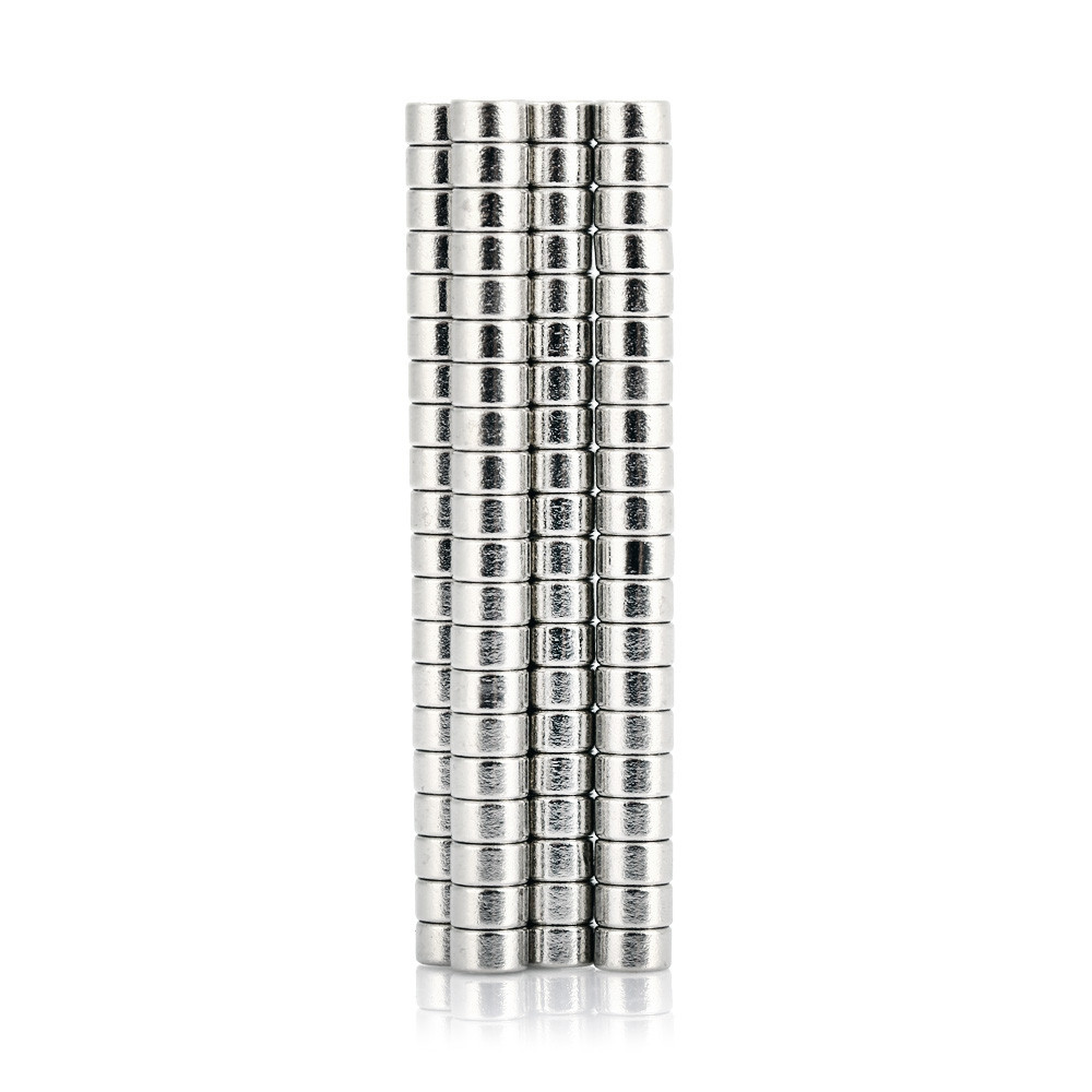 100pcs 5 x 5 x 3mm N52 Strong NdFeB Cylinder Magnet Birthday DIY Intelligent Gift