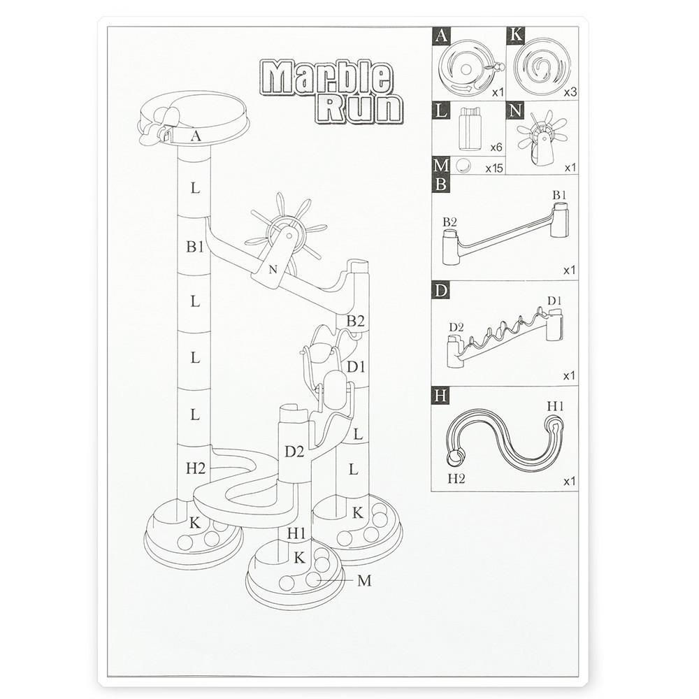 678 - 1 DIY Construction Marble Race Run Track Set Building Blocks Puzzles Toy