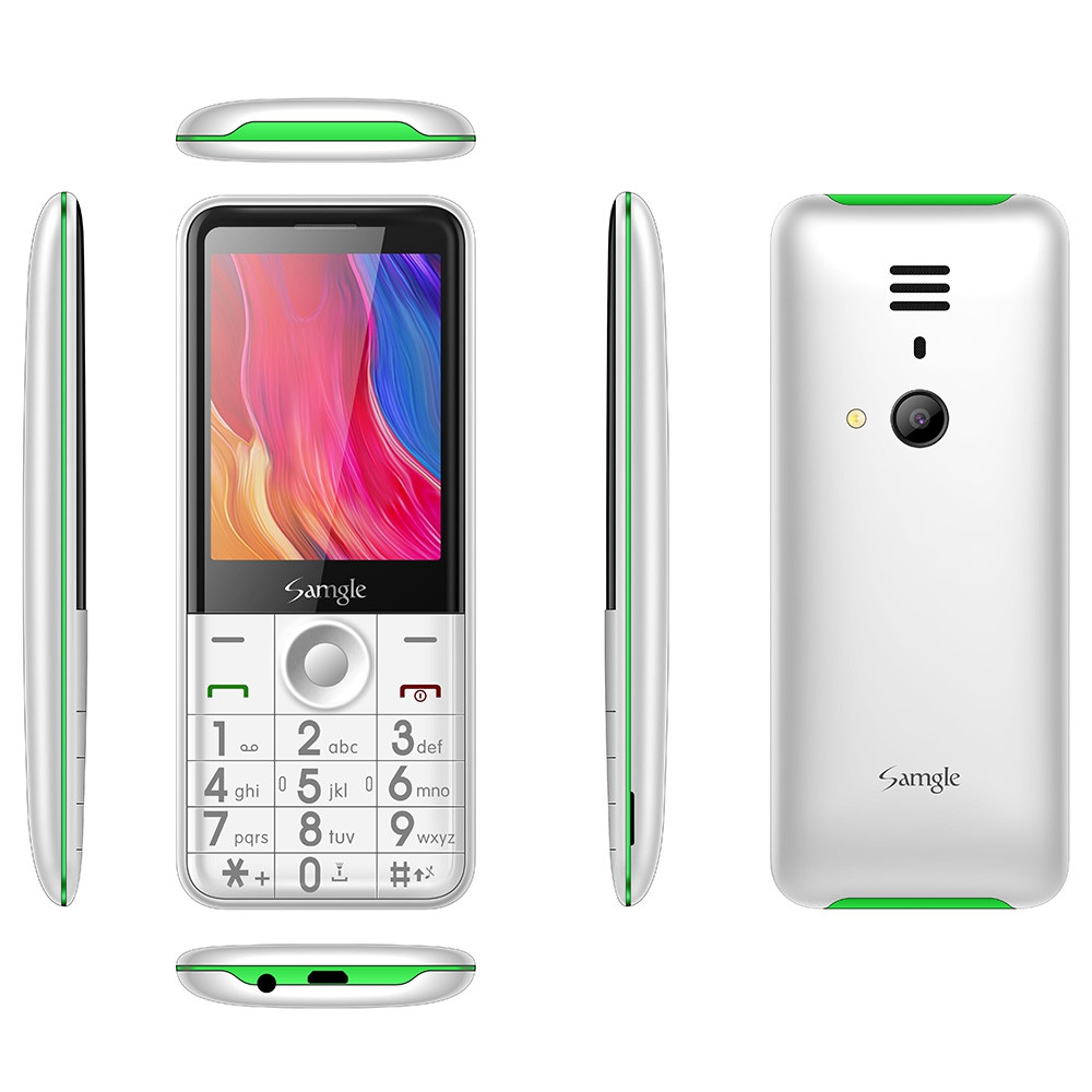 Samgle FLASH 3G Feature Phone 2.8 inch SC7701B 460.8MHz 64MB RAM 128MB ROM 0.08MP Rear Camera 1450mAh Detachable