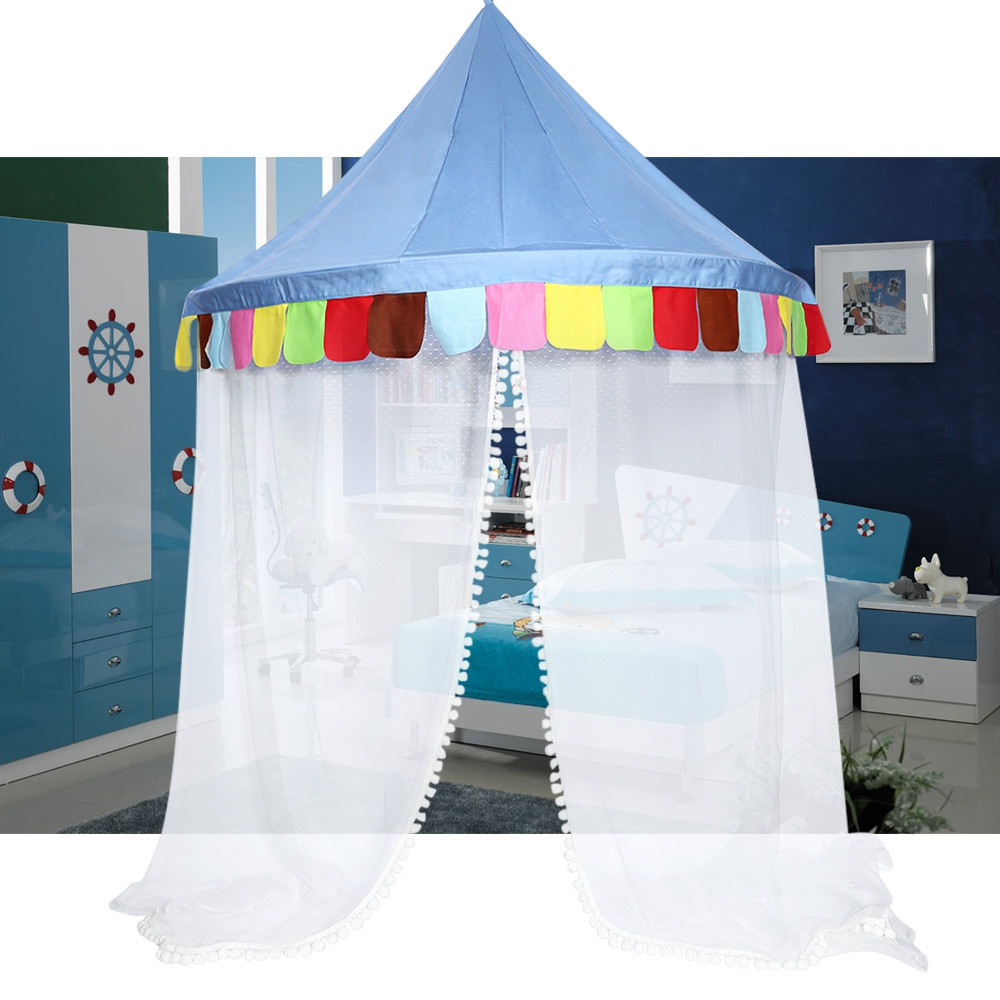 Bed Canopy Round Hoop Netting Children Play Tent