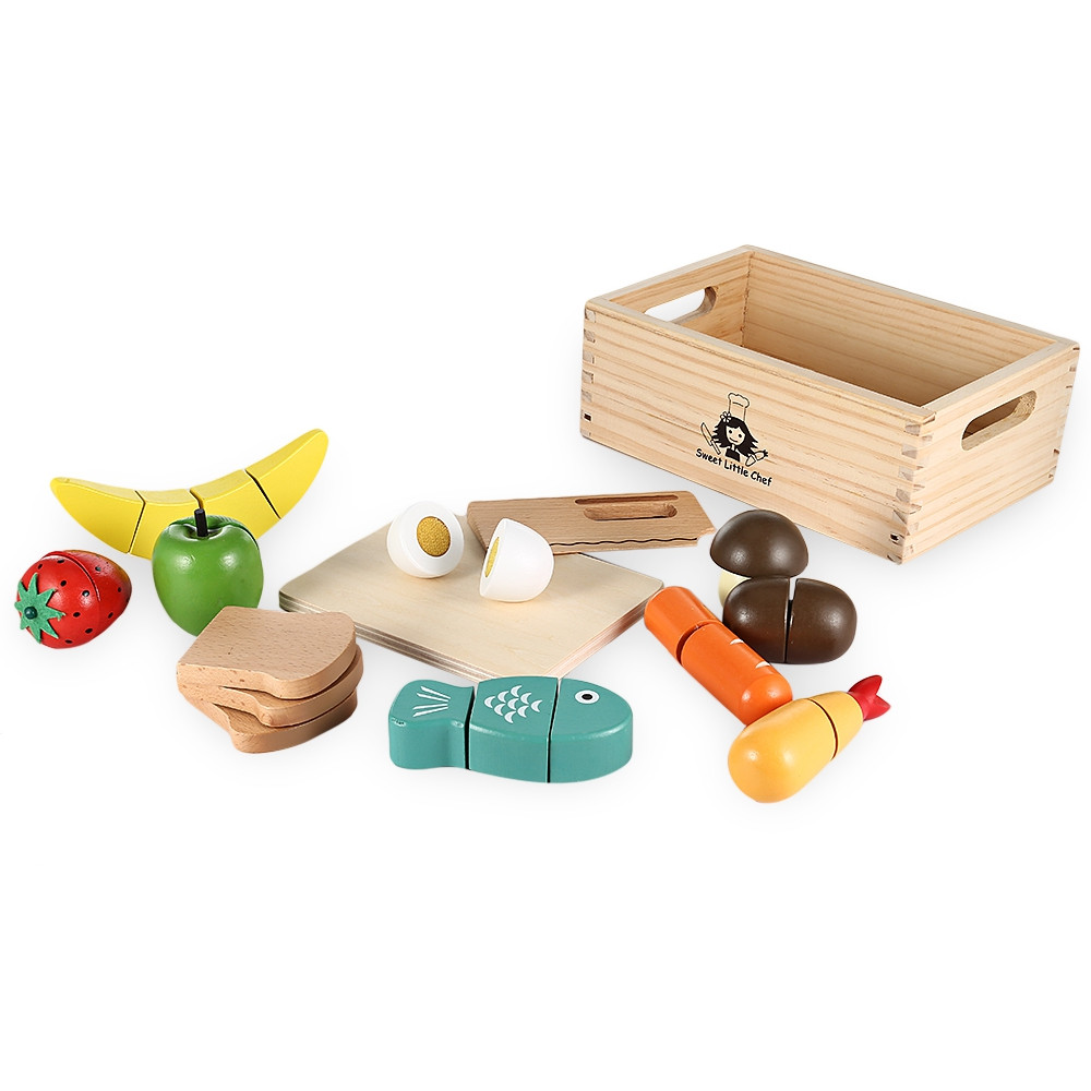13pcs Wooden Imitated Cutting Fruits and Vegetables Toy