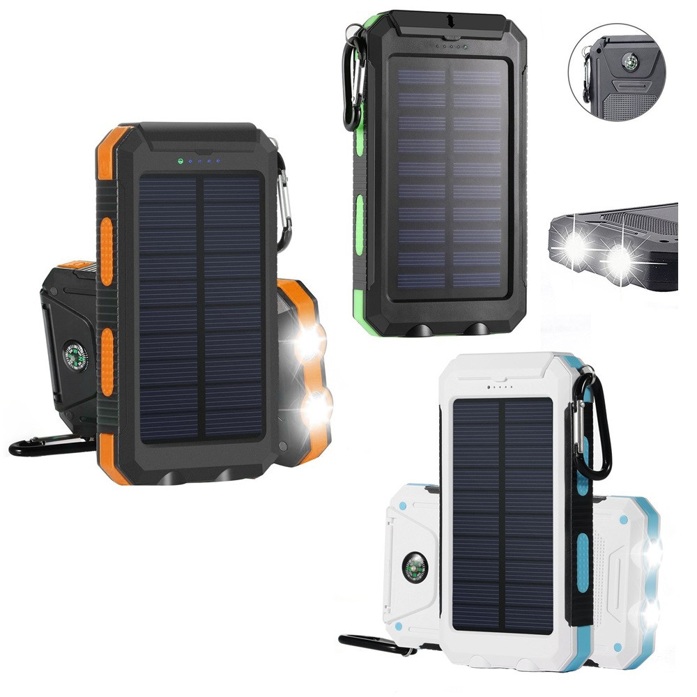 TODO Portable Solar Power Bank Charger 8000mAh with LED Compass