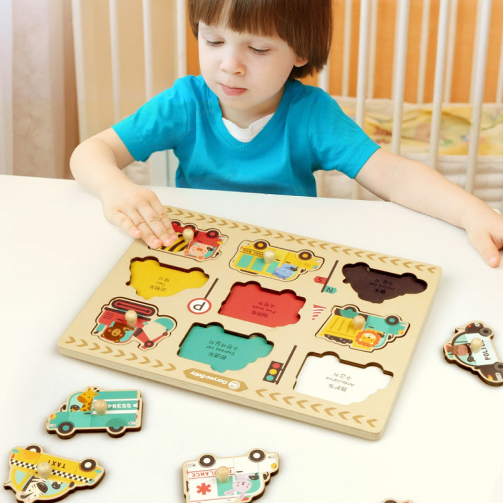 GoryeoBaby Wooden Numbers Cognitive Puzzle Board