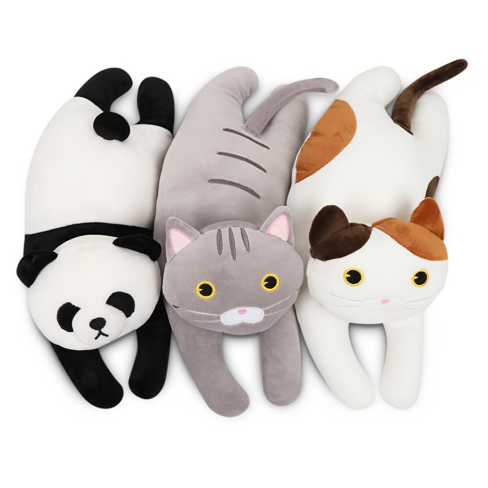 Soft Crystal Cotton Plush Dolls Stuffed Kneeling Cat Pillow Toys