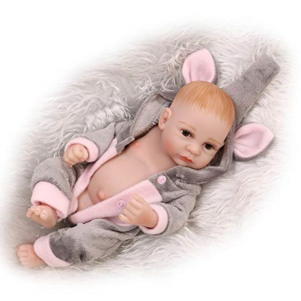 Reborn Newborn Baby Realike Handmade Lifelike Silicone Weighted Alive Doll