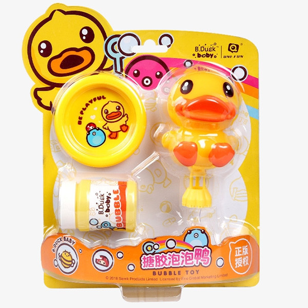 B.Duck WL - BD024 Children's Bubbler Toy Silicone Bubble Duck