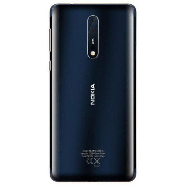 Nokia 8 4G Smartphone 5.3 inch Android 7.1 Snapdragon 835 Octa Core 2.5GHz 6GB RAM 128GB ROM 12.0MP + 13.0MP Dual Rear Camera Gorilla Glass 3090mAh Built-in