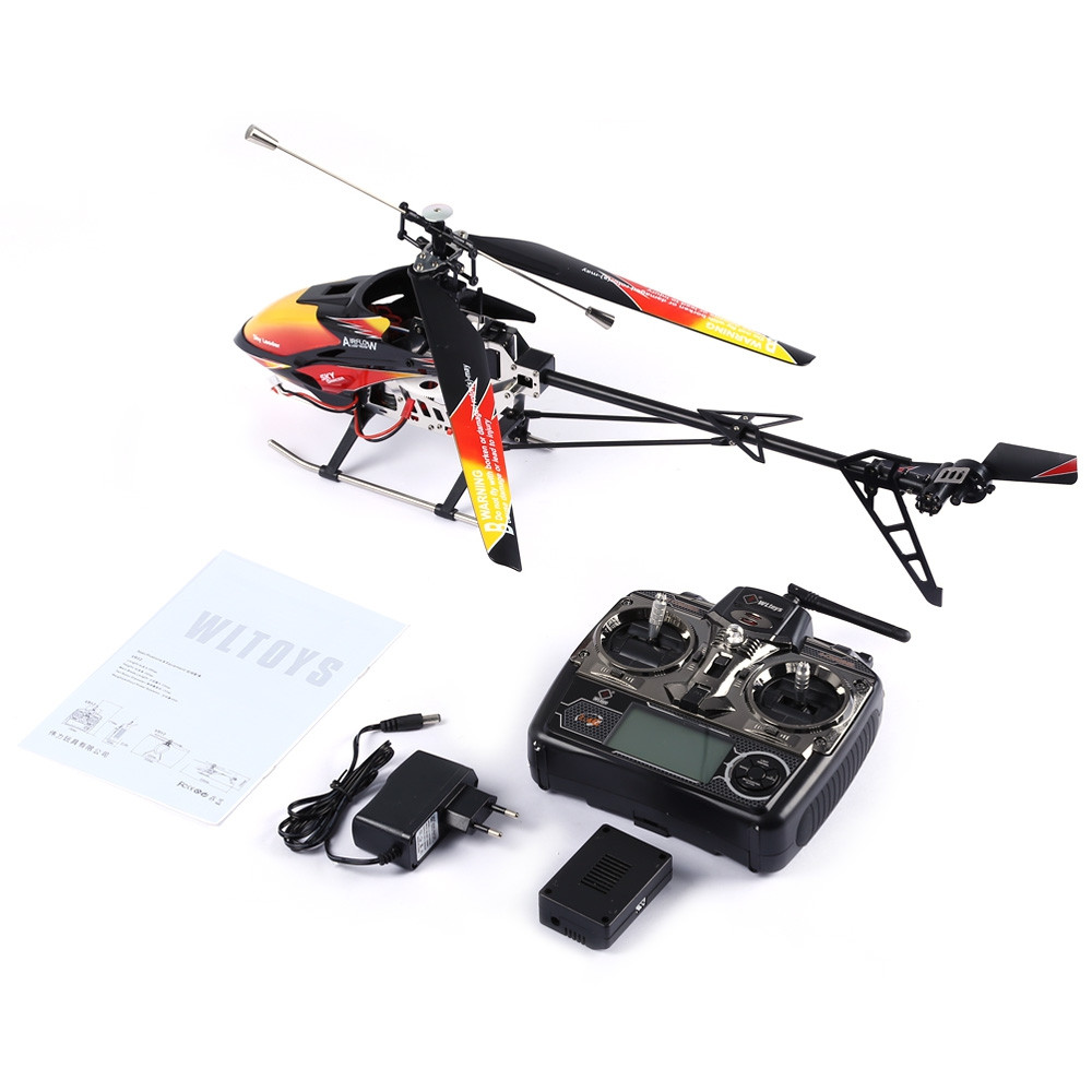 WLtoys V913 Single Propeller 2.4G 4CH MEMS Gyro RC Helicopter with LCD Transmitter