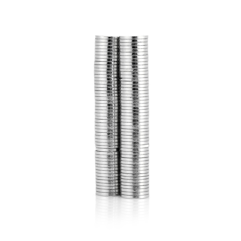 100pcs 8 x 8 x 1mm N52 Strong Cylinder NdFeB Magnet Birthday DIY Intelligent Gift