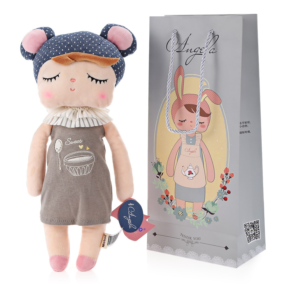 Metoo Angela Stuffed Plush Doll Toy for Kids Adults - Pudding