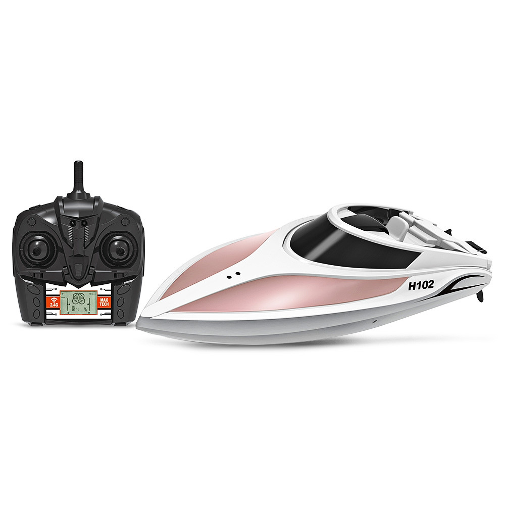 TKKJ H102 Brushed RC Racing Boat RTR 26 - 28km/h / Self-righting Function / 2.4GHz 4CH LCD Screen Transmitter