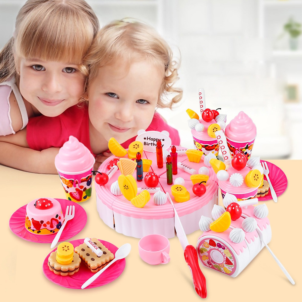 73PCS Birthday Party Play Fruit Food Cake for Children