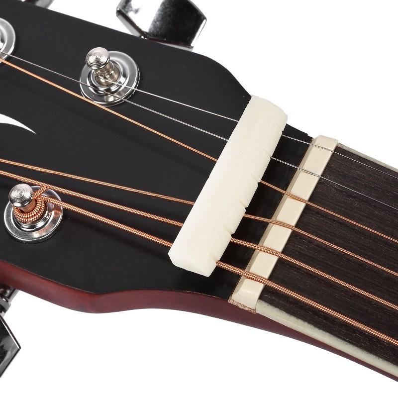 6 String Acoustic Guitar Bone Bridge Saddle Nut