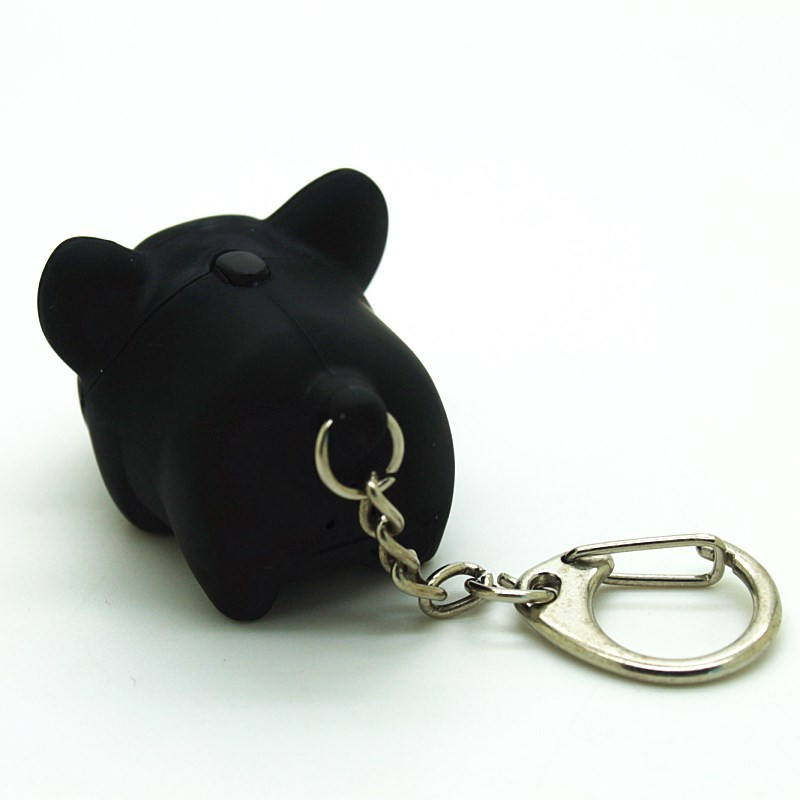 Cute Mini Pig Pendant with Light and Sound Key Chain