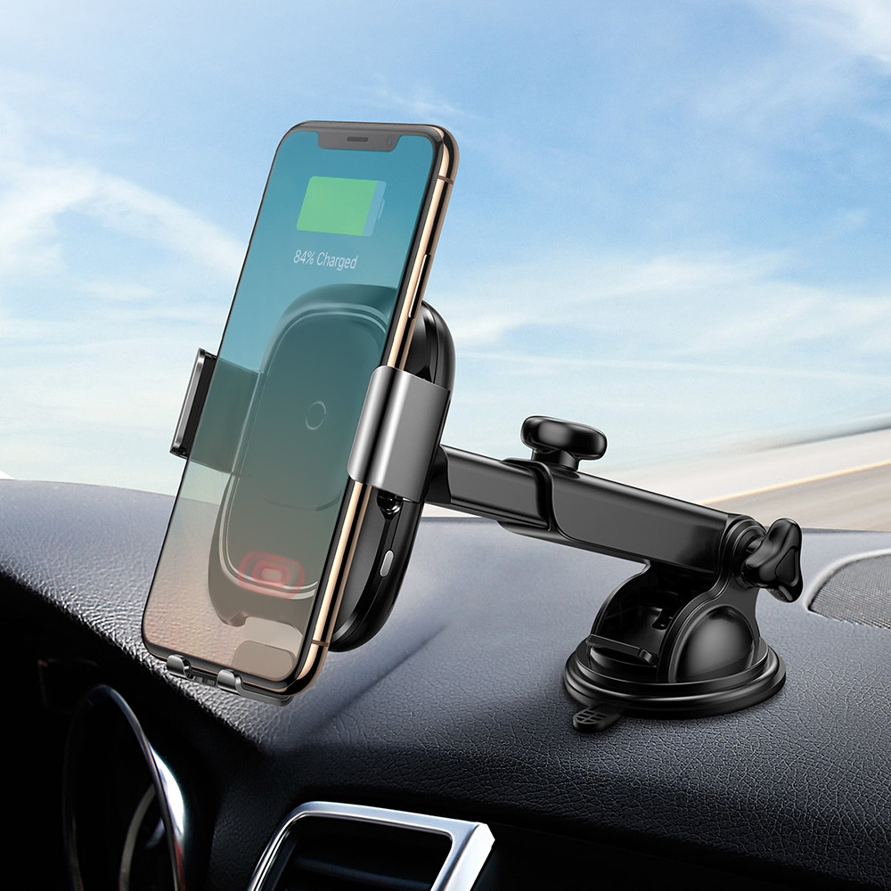 Baseus Smart Vehicle Bracket Car Mount Holder Wireless Charger