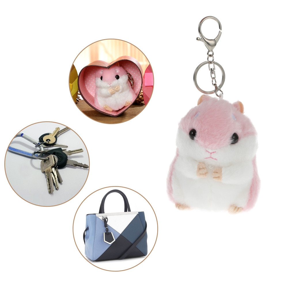 Lovely Keychain Small Hamster Stuffed Toy