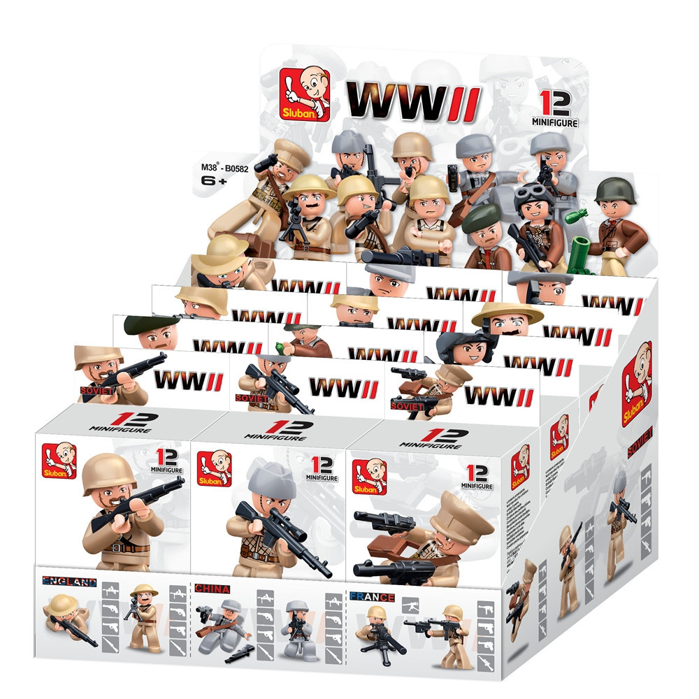 Sluban Building Blocks Educational Kids Toy 12 Models Assorted Army Set Military Toys