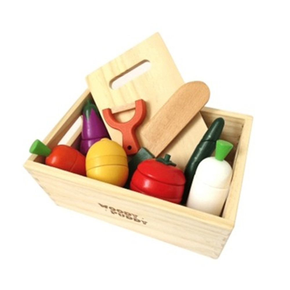 Creative Box of Fruits and Vegetables and Wooden Magnetic Children Play Toys