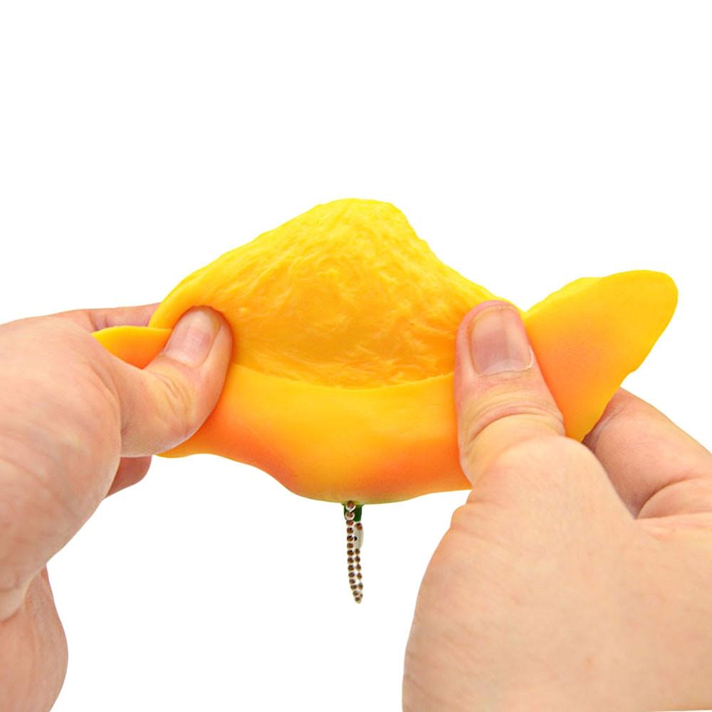 PA113 Squishy TPR Sponge Slow Rising Simulate Peeling Mango Toy