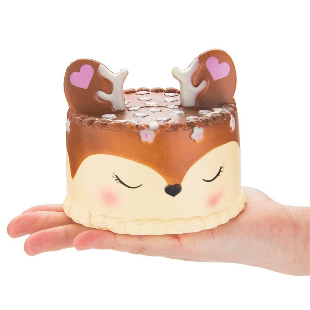 PU Slow Rebound Jumbo Squishy Antler Cake Toys