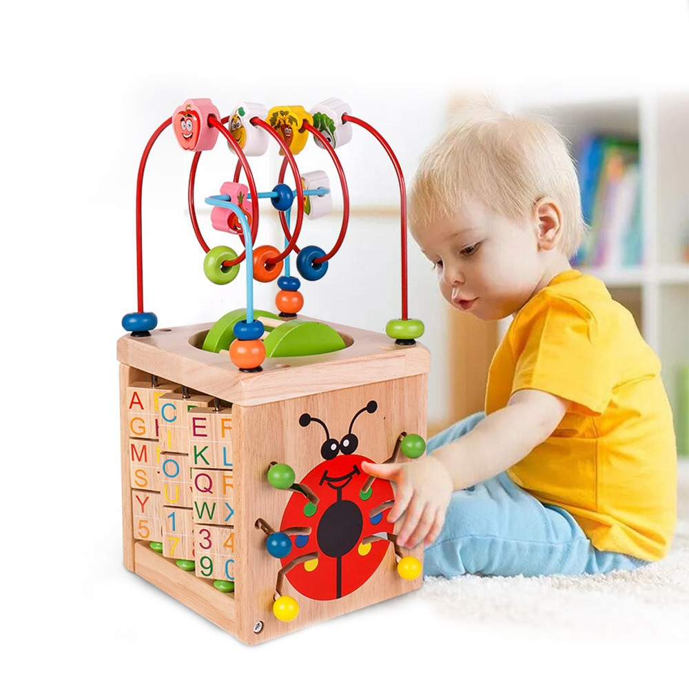 Wooden Children Puzzle Treasure Chests Educational Toy