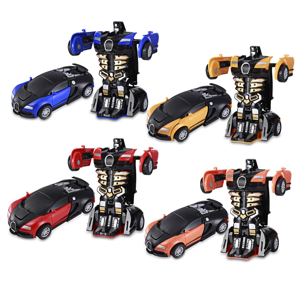 One Step Impact Deformation Car Mini Transformation Robot Toy