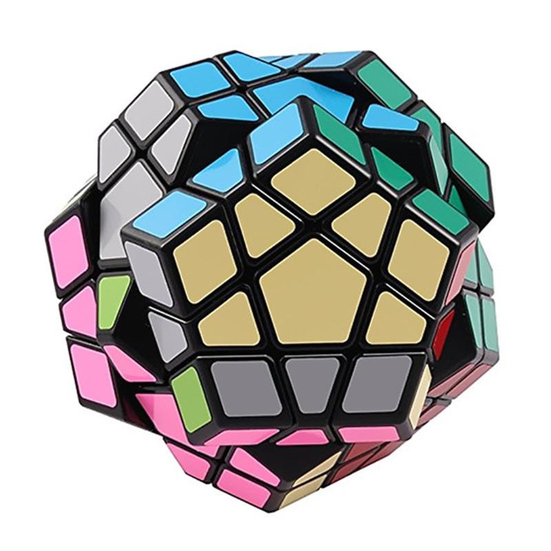 Megaminx 12 Sides Speed Cube Twisty 3D Puzzle Game Magic Brain Black