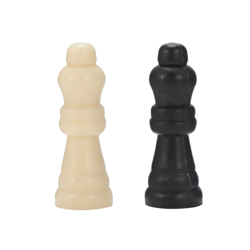 Portable Folding International Chessboard with Plastic Chess Pieces