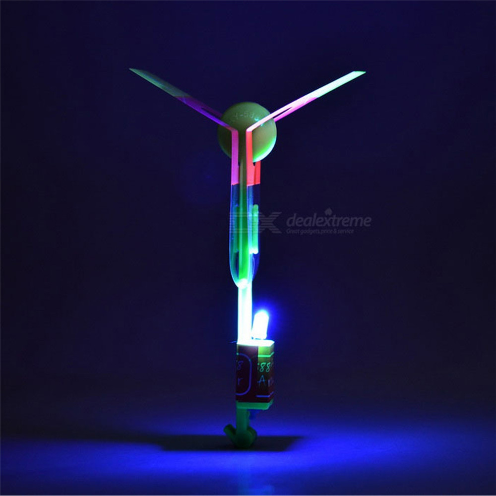 LED Light-up Rubber Slingshot Helicopter Toys for Kids 20pcs