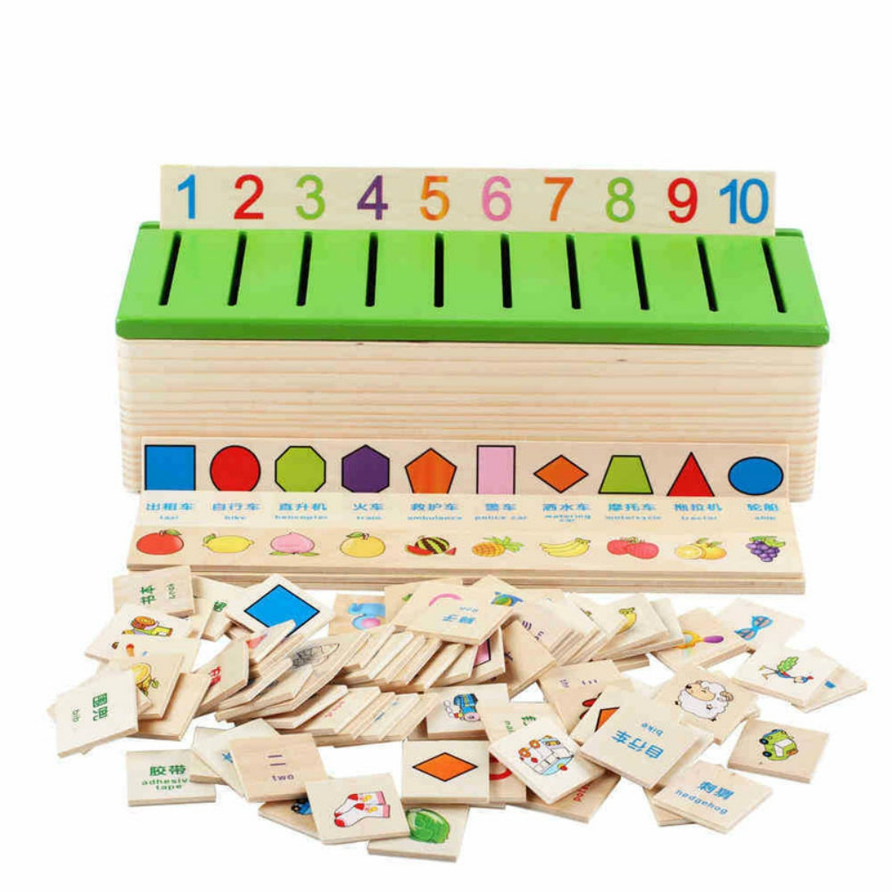 Learning Knowledge Classification Box Wooden Educational Toys