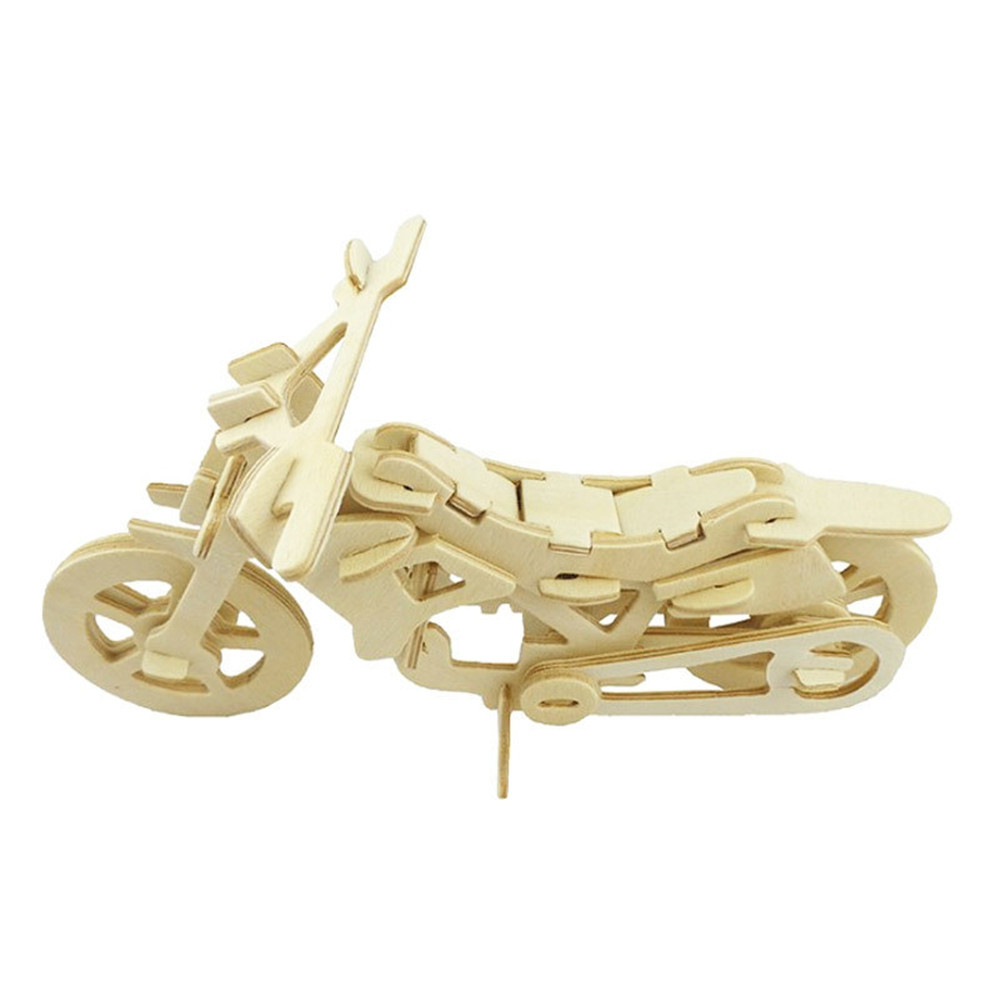 DIY 3D Wooden Puzzle Cool Motor Bike for Kids Gift