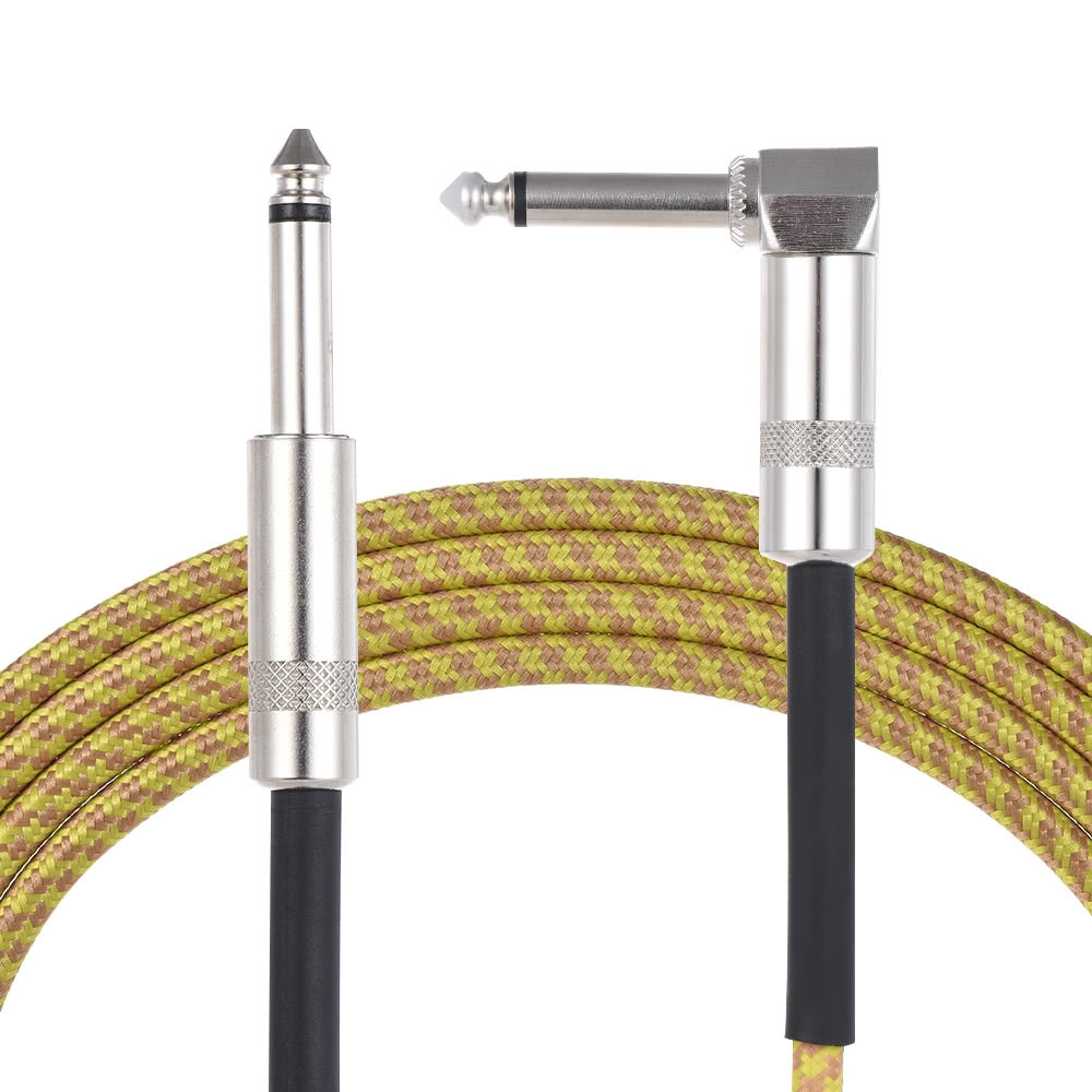 6.35mm to 6.35mm M-M Braided Audio Cable for 5 M