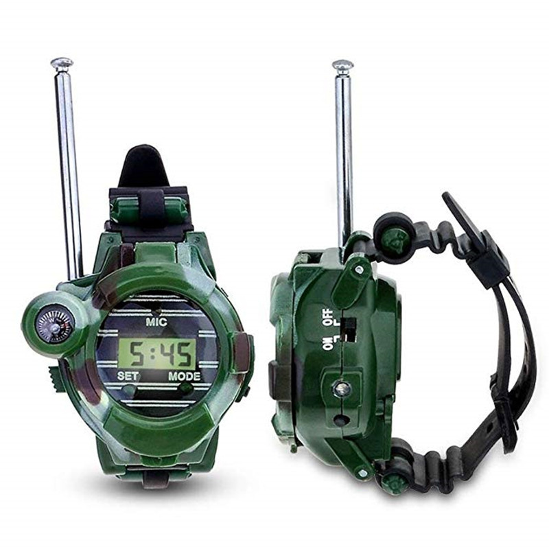 2PCS Children Parent Wrist Watch Walkie Talkie Kids Intercom Outdoor Toy