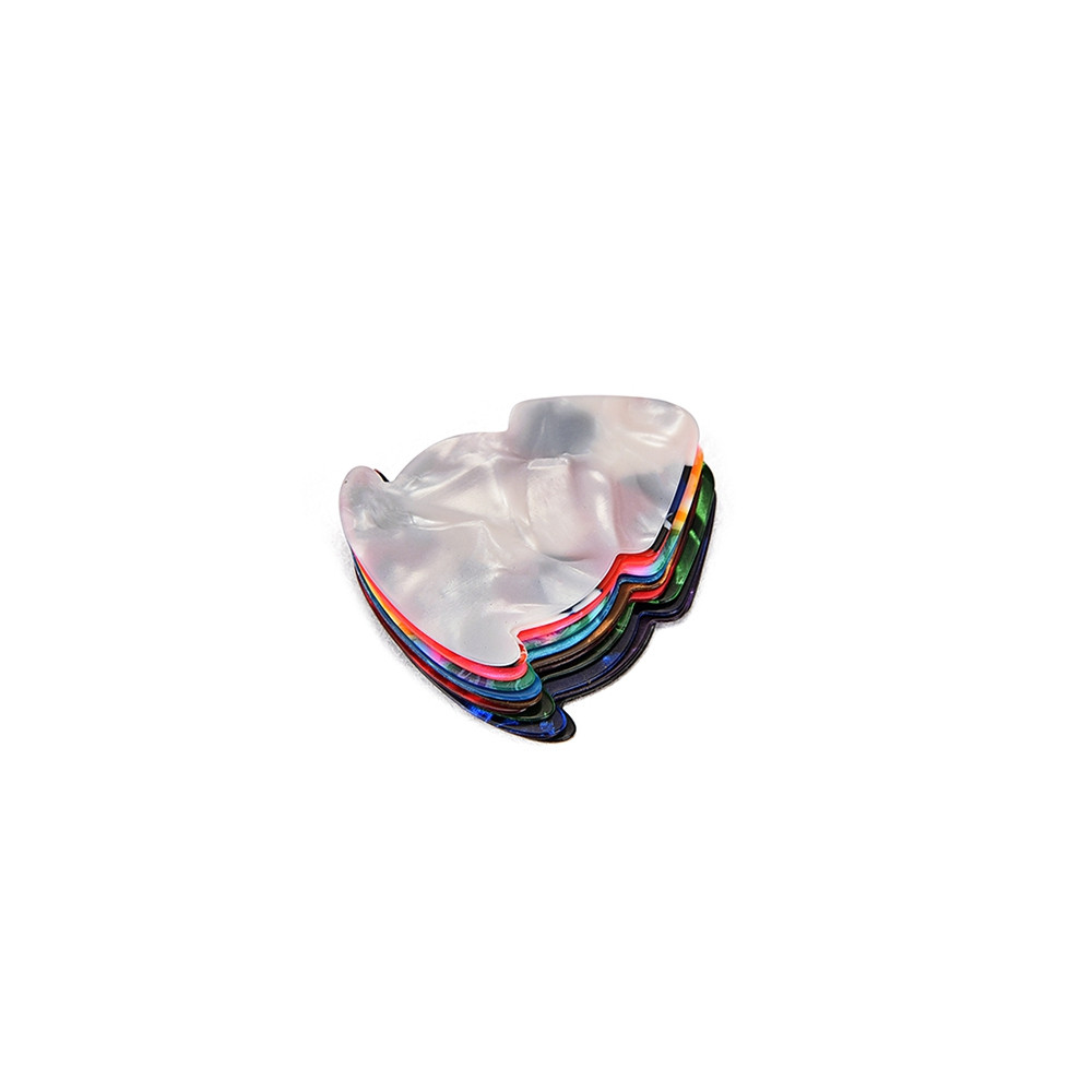 100PCS Colorful 0.48mm Guitar Picks Celluloid Mediators for Bass