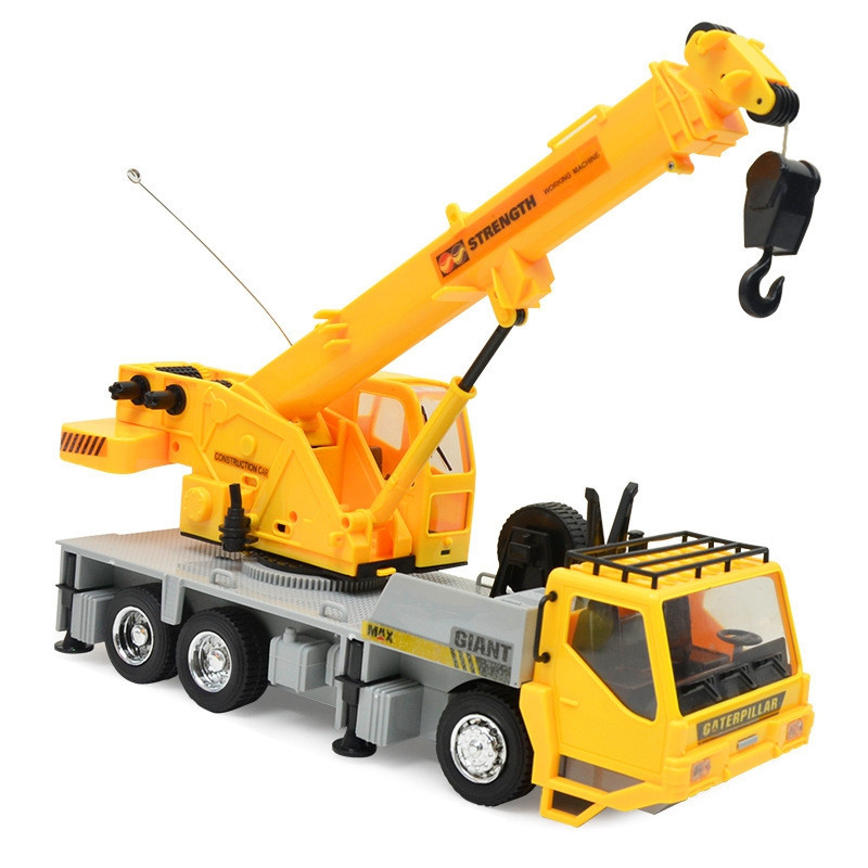 1:24 2.4G 8CH Wireless Remote Controlled Chargeable RC Engineering Vehicles Crane Truck for Kids Toy