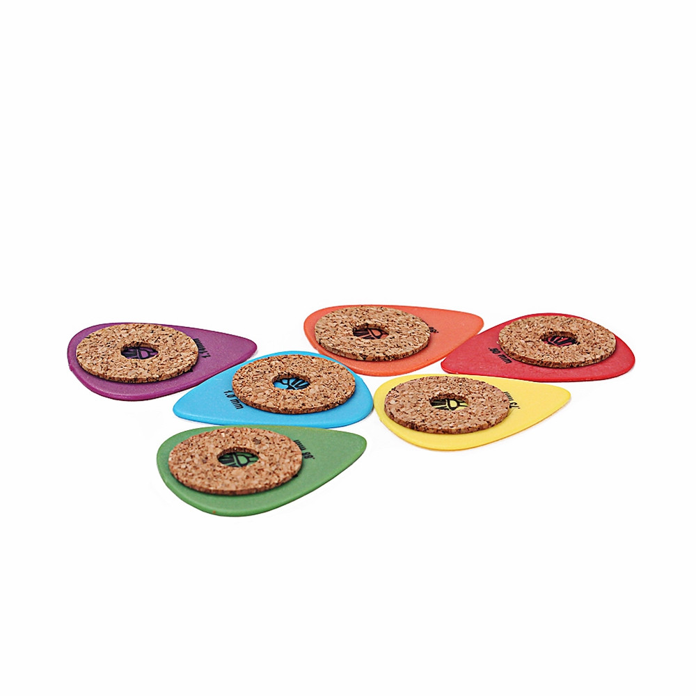 6PCS Standard Guitar Pick Non-slip Grip Cork Tape and Picks