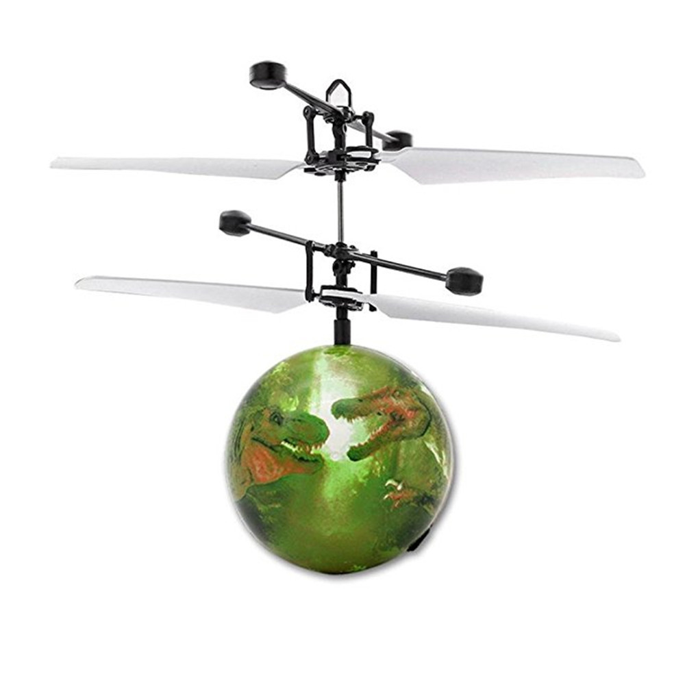 Dinosaur RC Flying Ball Drone Helicopter Ball Built-in Shinning LED Lighting for Kids Toy