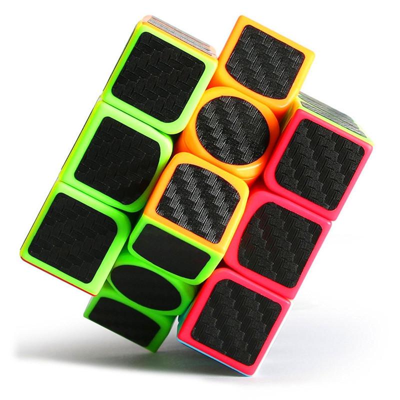 Children Educational Toy Black Carbon Fiber Three Order Magic Cube